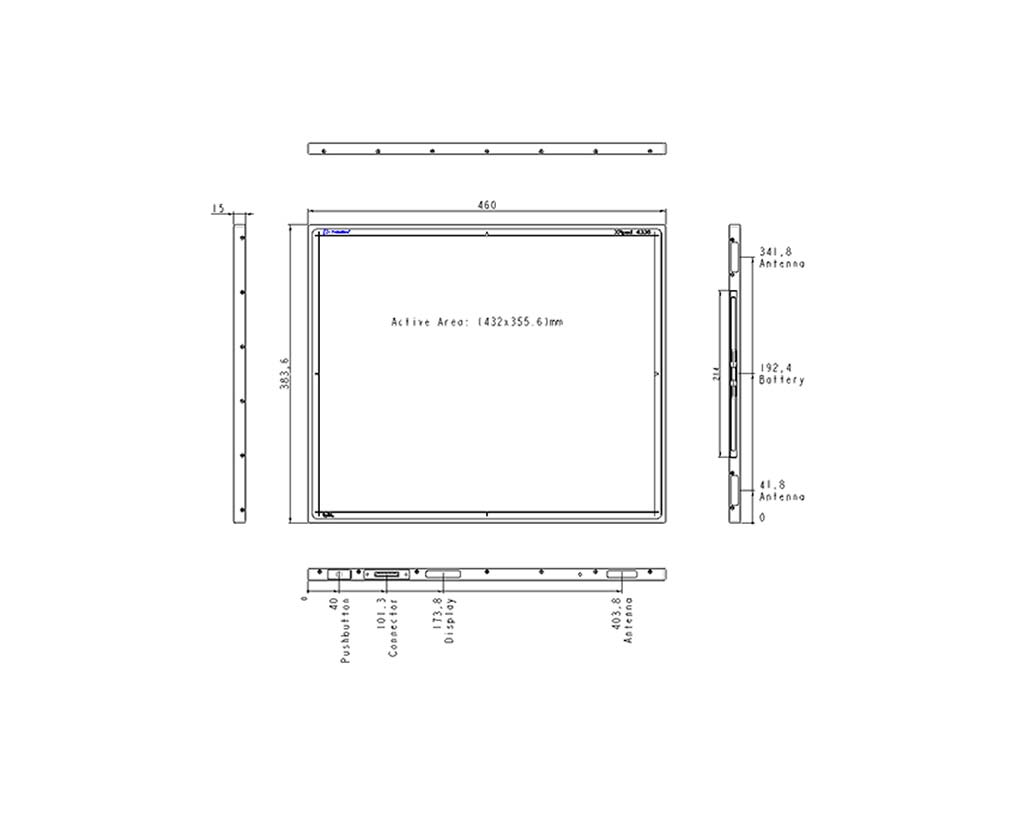 XRpad 4336 Mechanical Drawing