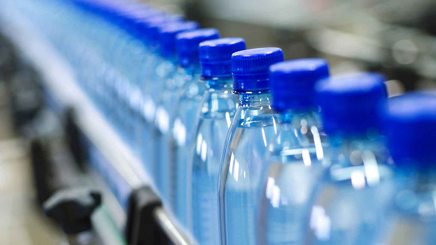 Chemical analysis of bottled water.