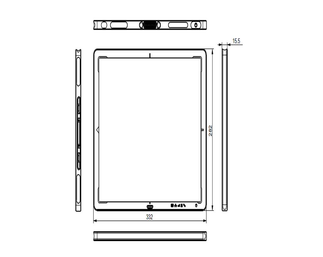 XRpad2 3025 Mechanical Drawing